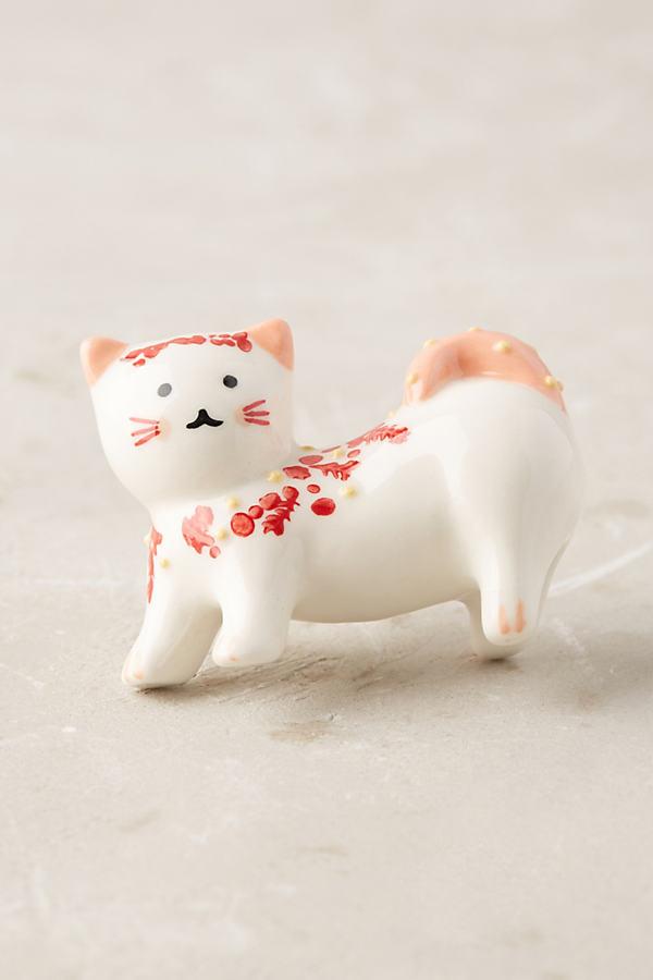 Fanette Cat Knob - Red Motif, Size Xs