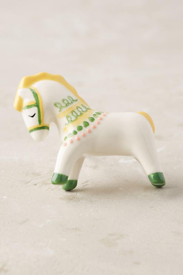 Fanette Horse Knob - Yellow Motif, Size S