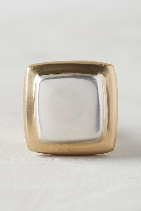 Milo Square Knob - Silver, Size S