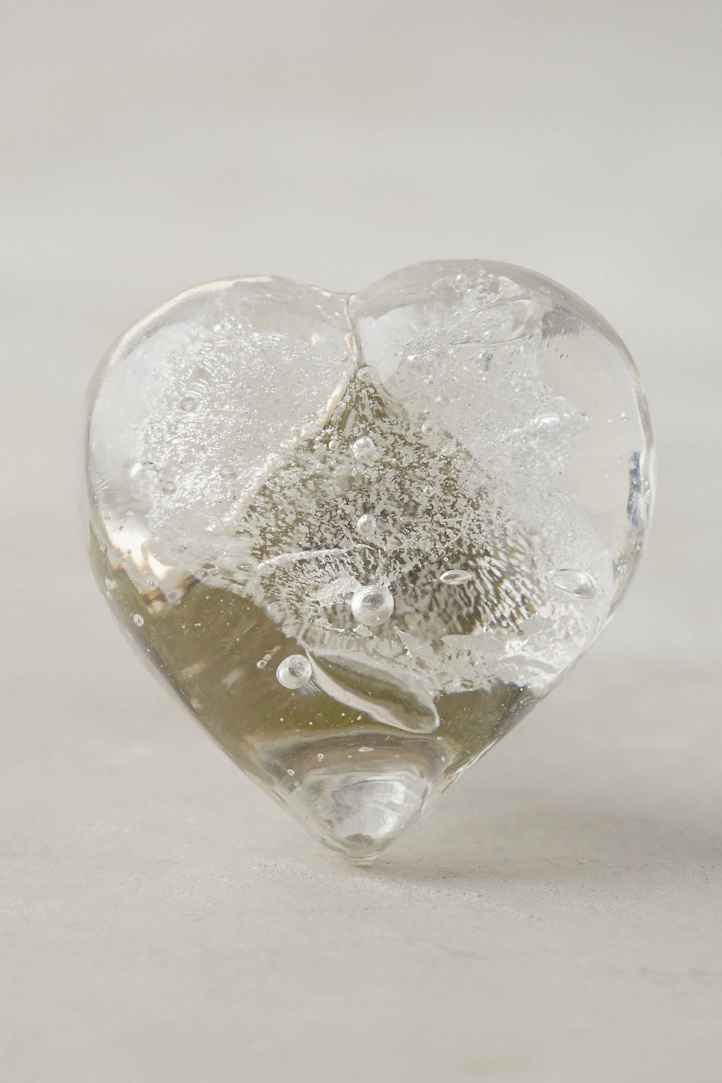 Glass Heart Knob