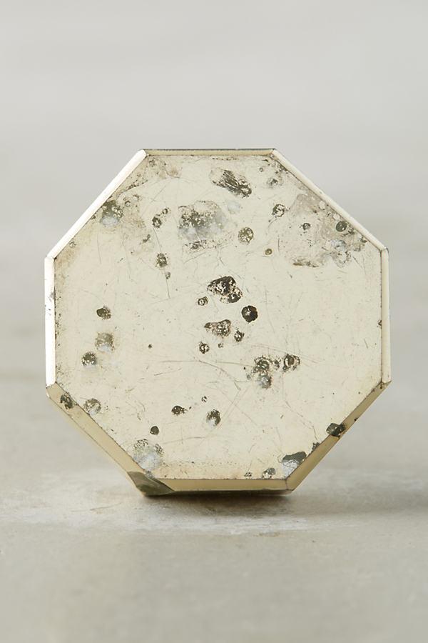 Octagonal Knob - Silver