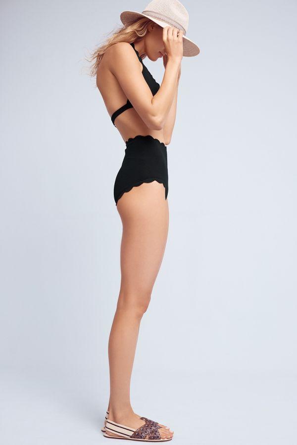 Marysia Marysia Scalloped Halter Swim Top