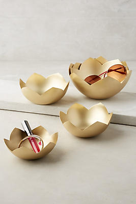 Slide View: 1: Lotus Decorative Nesting Bowls