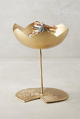 Slide View: 1: Brass Lotus Vessel