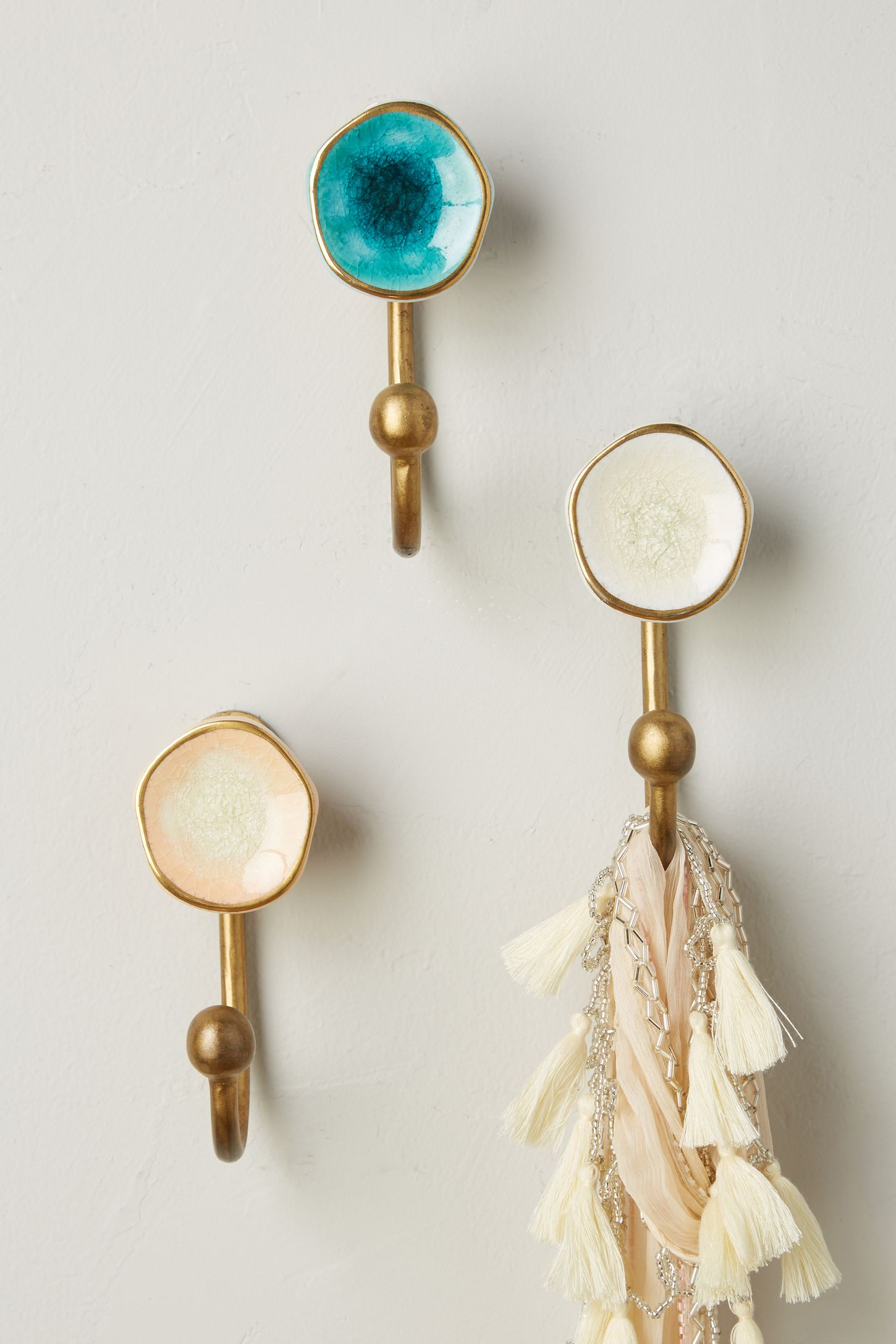 Blue - Hooks | Decorative Wall & Coat Hooks | Anthropologie