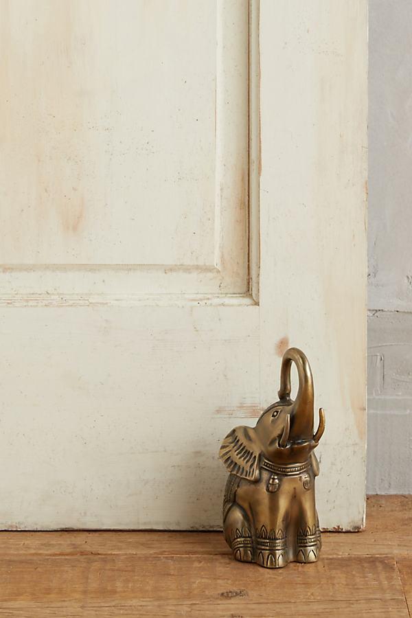 Königlicher Elefant – Türstopper - Bronze