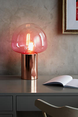Slide View: 2: Rose Gold Table Lamp