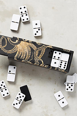 Engraved Octopus Domino Set