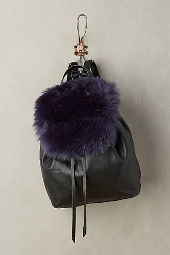 Phoebe Faux-Fur Backpack
