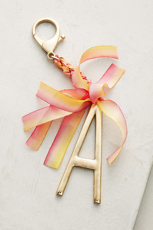 Ribboned Monogram Keychain