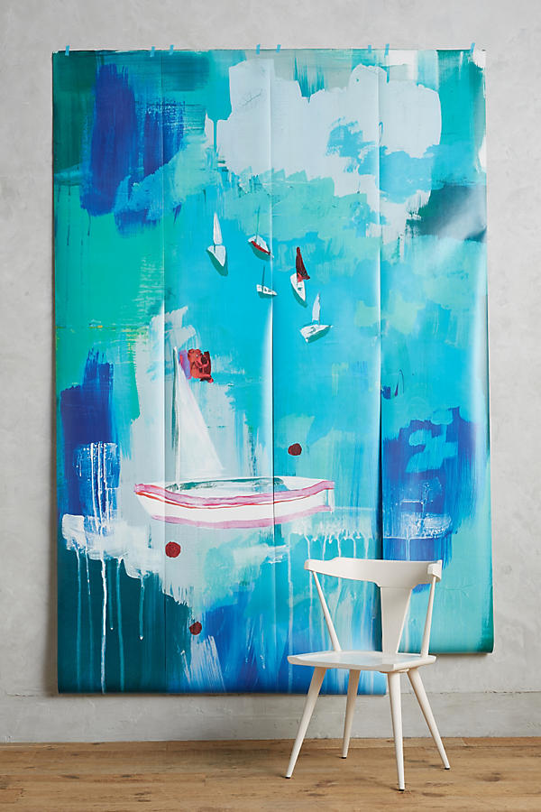 Slide View: 1: Décor Mural Sailing Scene