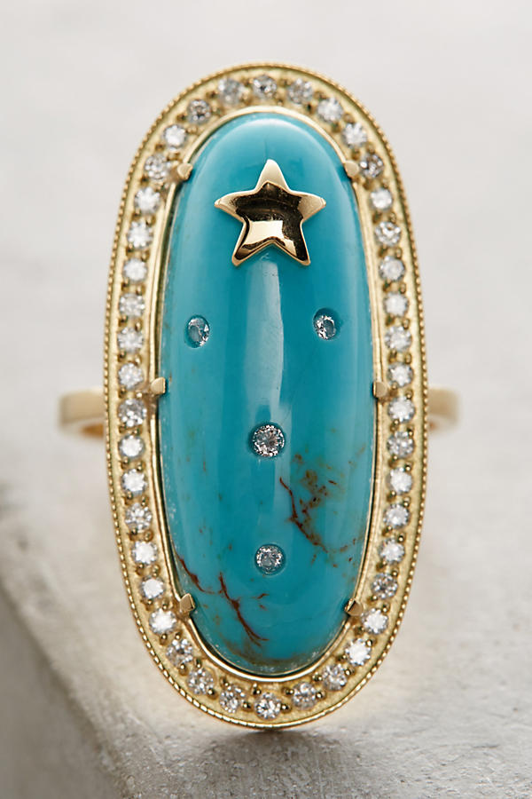 Slide View: 2: Turquoise Starlight Ring