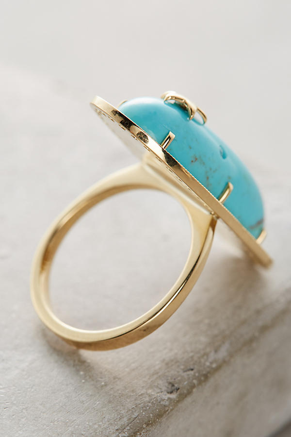 Slide View: 3: Turquoise Starlight Ring