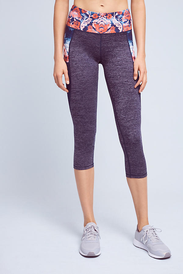 Slide View: 2: Washed Flora Capri Leggings