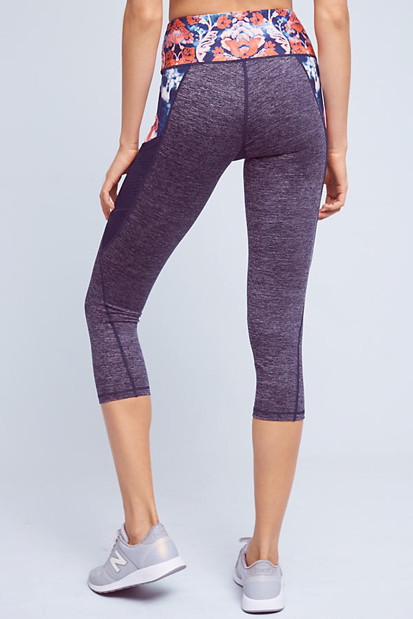 Slide View: 4: Washed Flora Capri Leggings