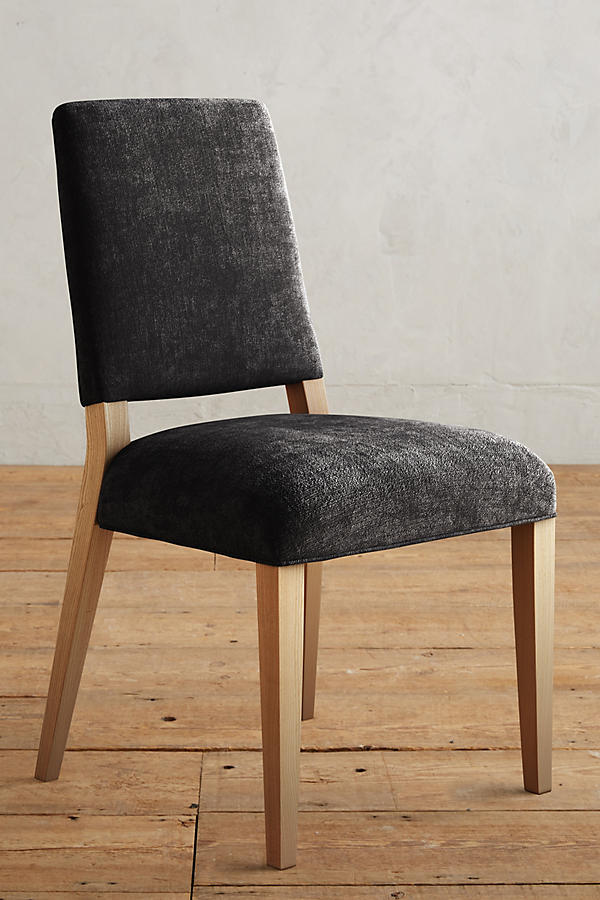 Slide View: 1: Slub Velvet Farwood Chair