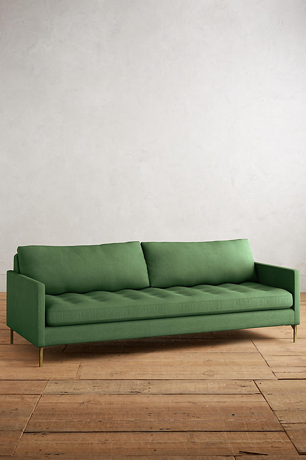 Slide View: 1: Linen Angelina Sofa