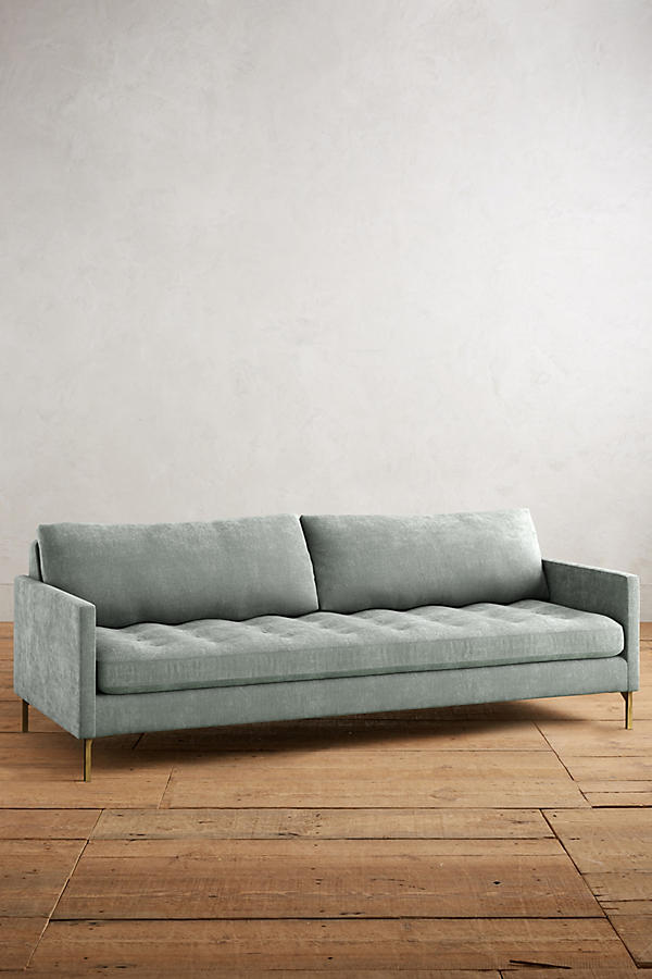 Slide View: 1: Slub Velvet Angelina Sofa