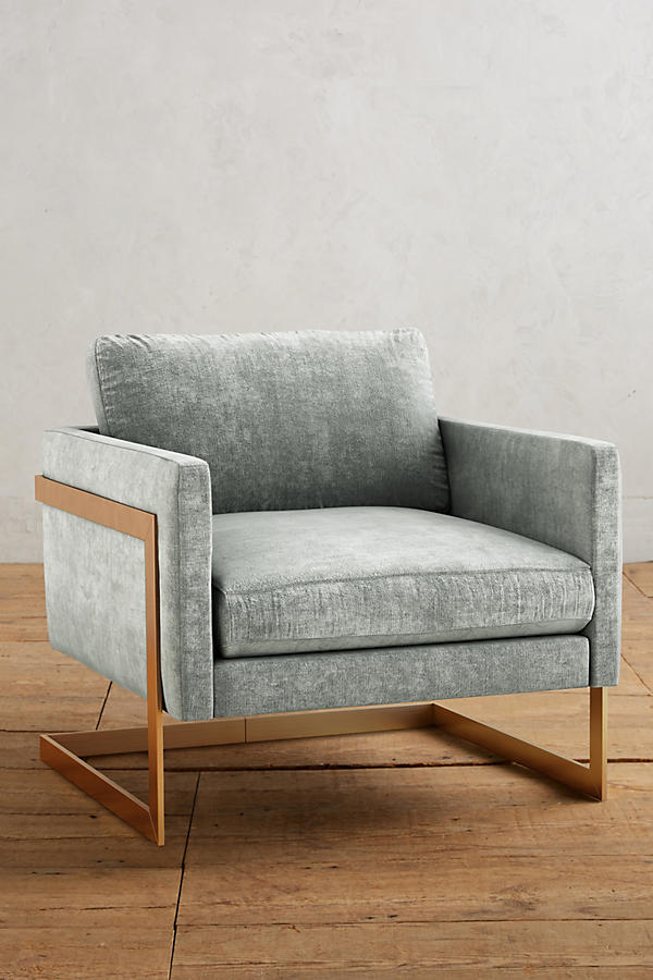 Slide View: 1: Slub Velvet Meredith Chair