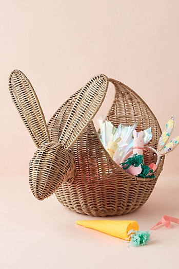 Rabbit Wicker Basket