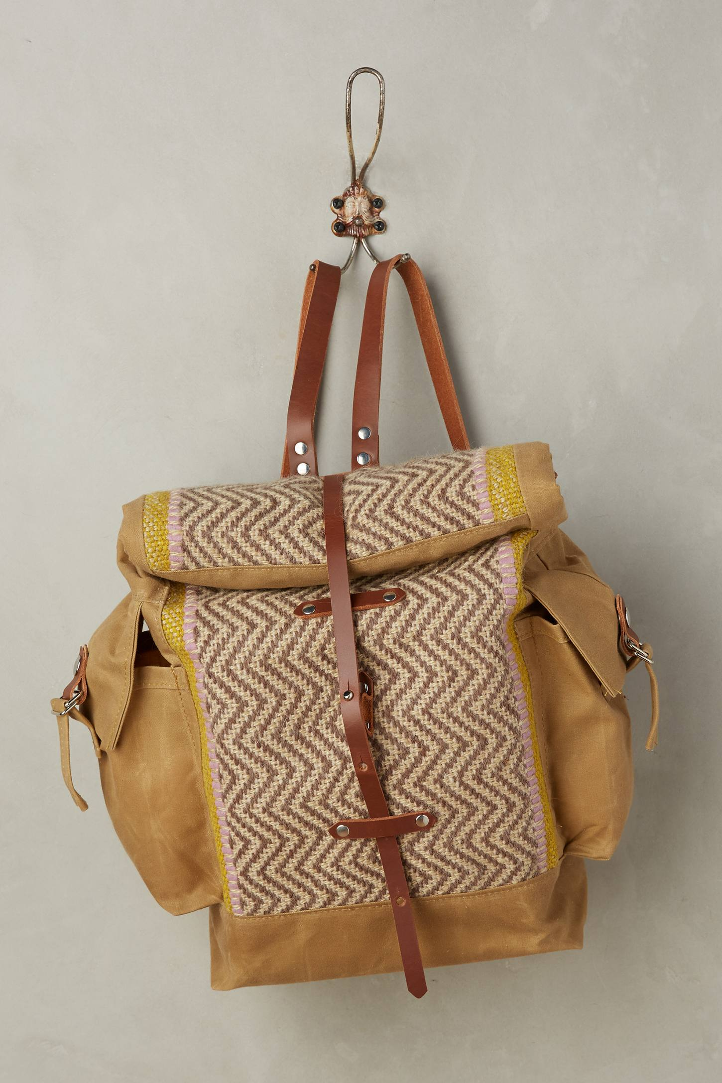 Toffee Handwoven Backpack