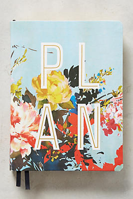 Slide View: 1: Floral Open-Dated Planner