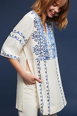 Slide View: 1: Liana Embroidered Tunic