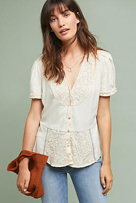 Slide View: 1: Talia Lace Buttondown