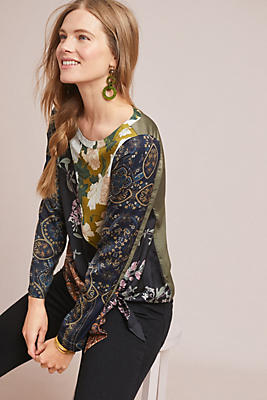Slide View: 1: Patchwork Blooms Blouse