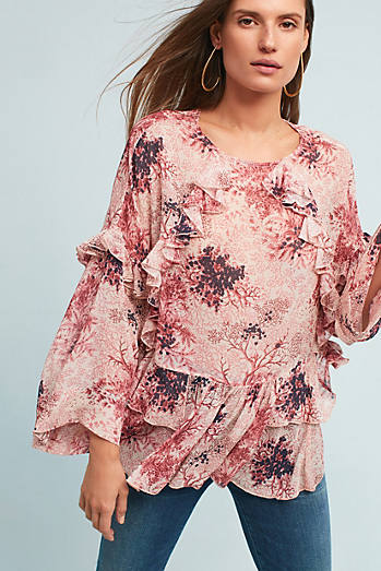 Dusk Fields Ruffled Blouse