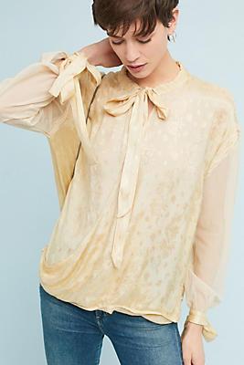 paulina tie-neck top