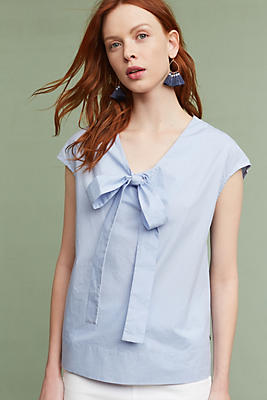Slide View: 1: Cadyna Poplin Blouse