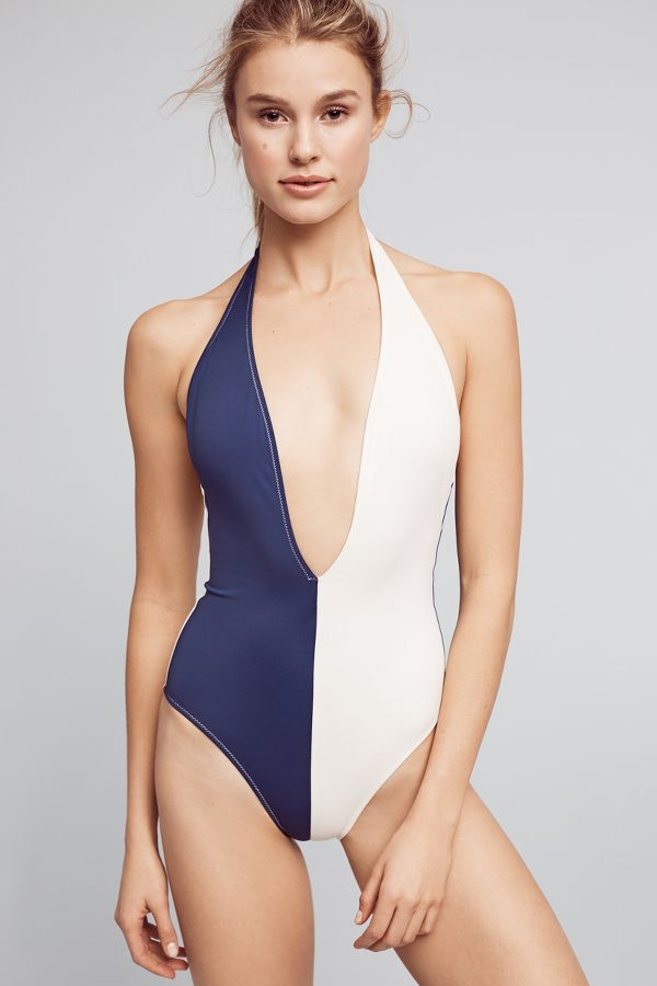 Solid & Striped Solid & Striped Willow Colorblocked One-Piece