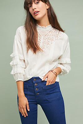 Slide View: 1: Frye Diya Lace Blouse