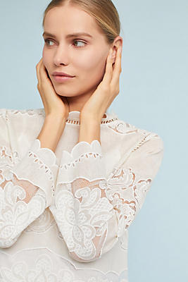 Slide View: 1: Alice Lace Blouse