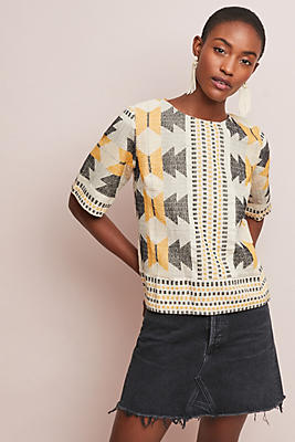 Slide View: 1: Alicia Textured Top