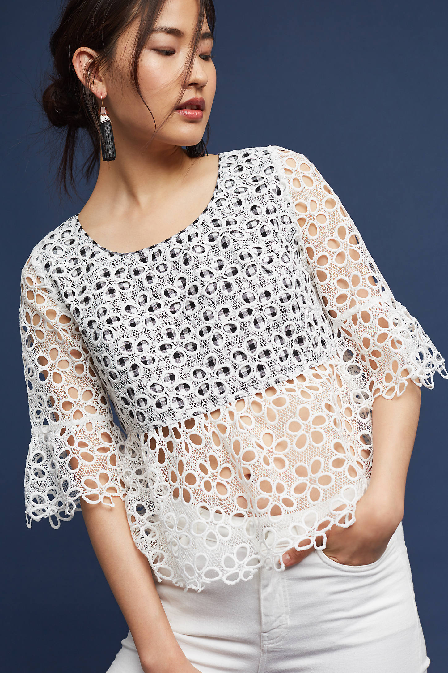 Daisies & Lace Blouse