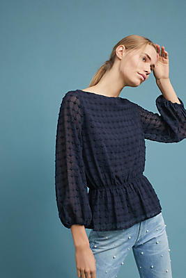 Slide View: 2: Elena Textured Blouse