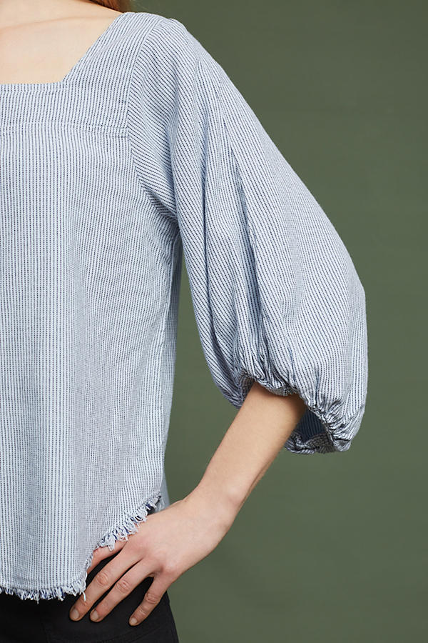 Slide View: 3: Torey Frayed Top