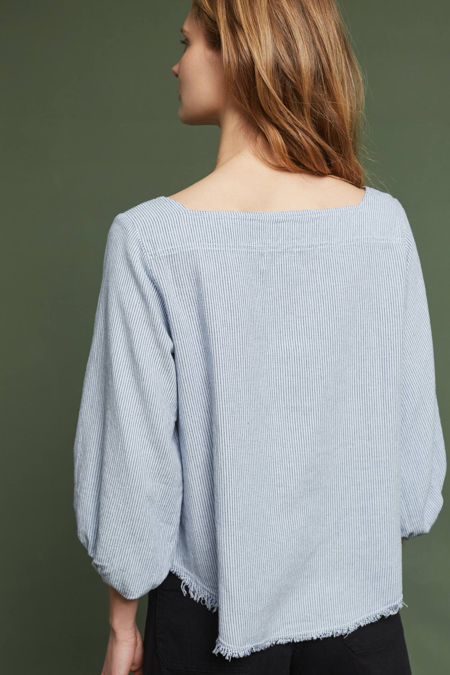 Slide View: 4: Torey Frayed Top