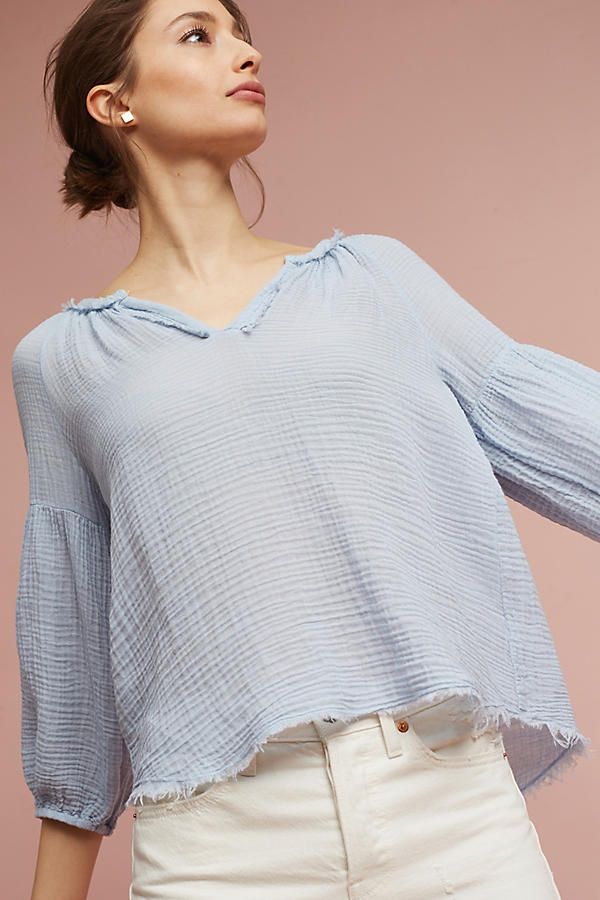 Slide View: 3: Octavia Gauze Top