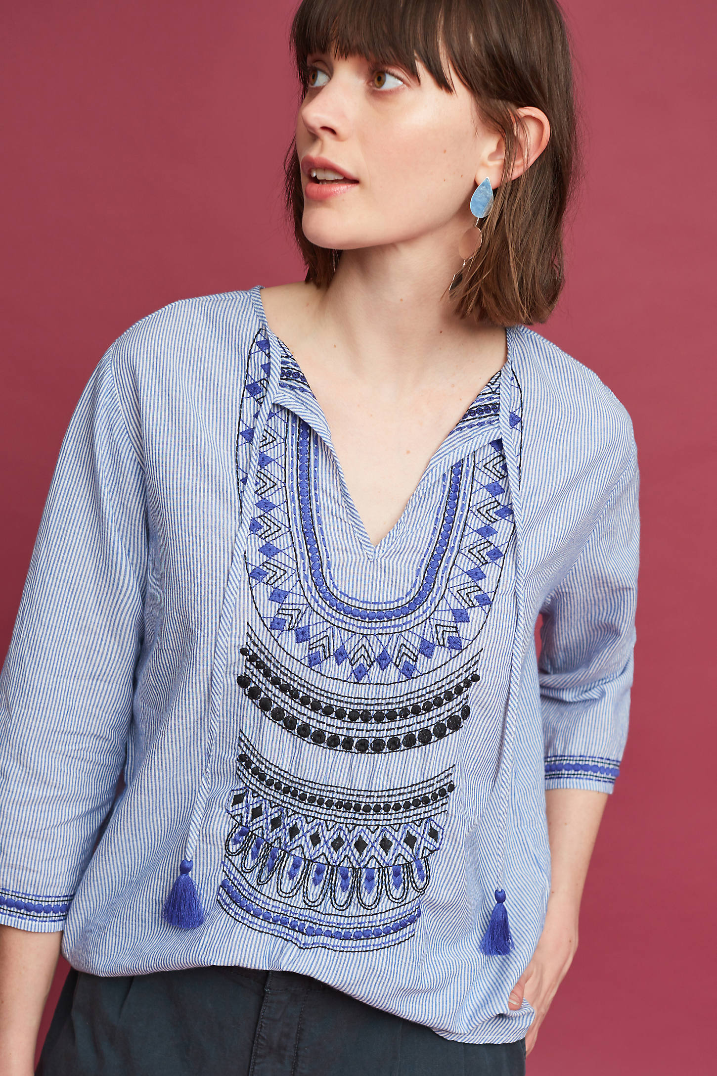 Adonie Embroidered Top