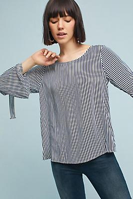 Slide View: 1: Adia Striped Pullover