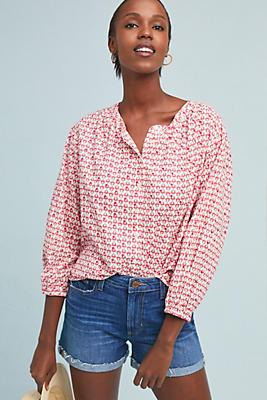 Slide View: 1: Oprah Embroidered Buttondown