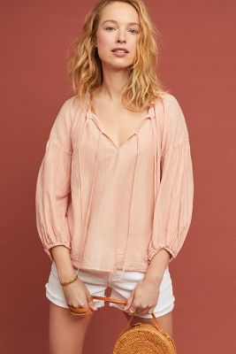 Tammin Peasant Top by Velvet By Graham & Spencer