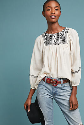 Slide View: 1: Vanna Embroidered Blouse