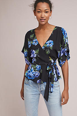 Slide View: 1: Yumi Kim Ursuline Wrap Blouse