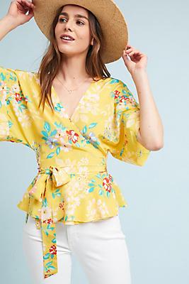 Slide View: 1: Yumi Kim Floral Wrap Blouse