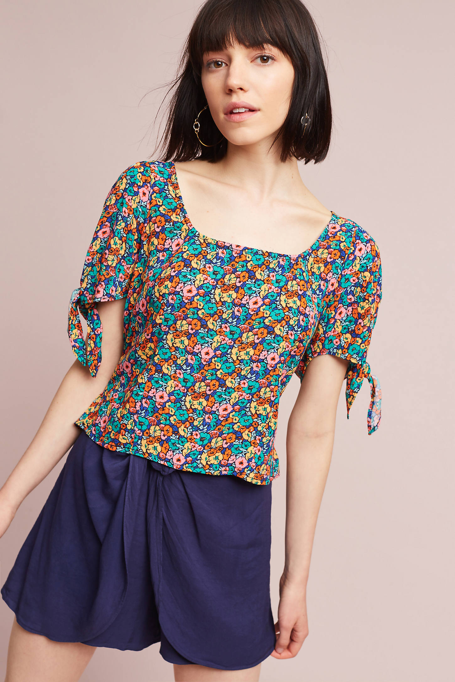 Adley Tie-Sleeve Top