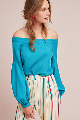 Slide View: 1: Hershell Off-The-Shoulder Blouse